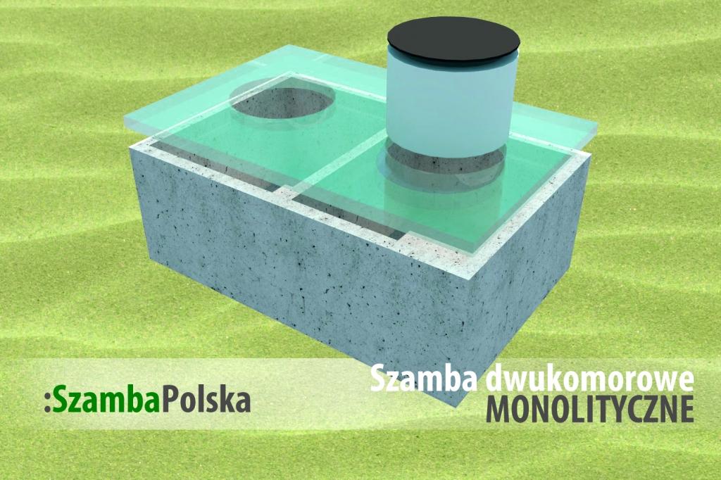 Szamba betonowe dwukomorowe monolityczne z SzambaPolska.pl