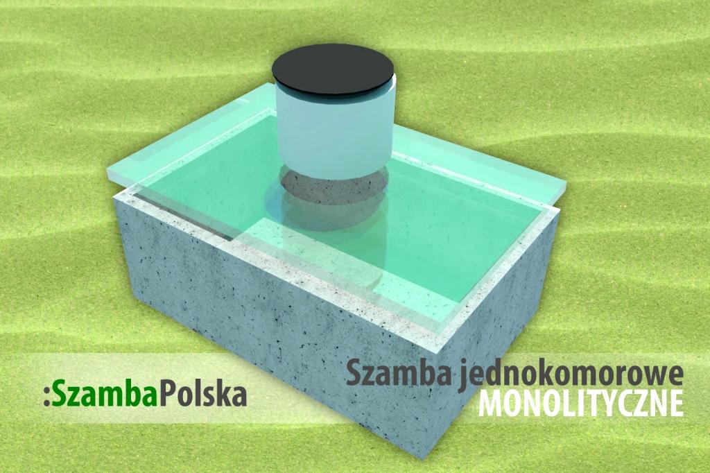 Szamba betonowe jednokomorowe monolityczne z SzambaPolska.pl